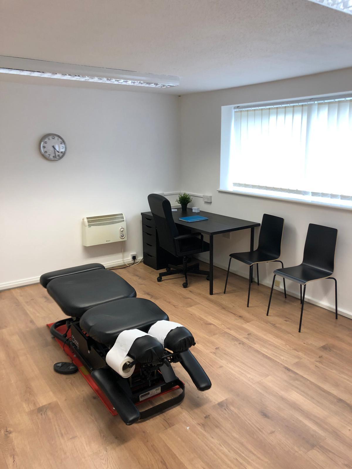 Swansea Chiropractor bench
